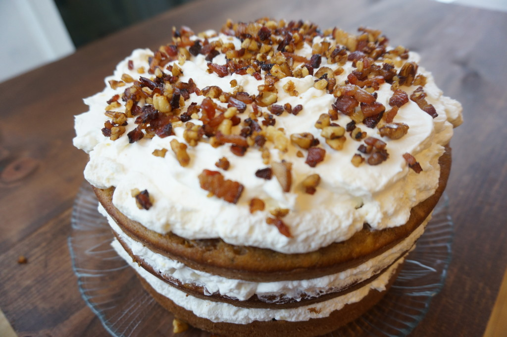 Maple Cream Cheese Frosting carrot cake with maple cream cheese frosting - kitschen cat