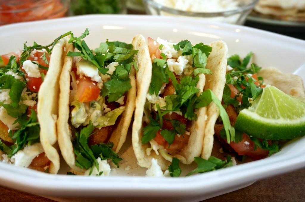 Fish Tacos with Jalapeno Citrus Slaw