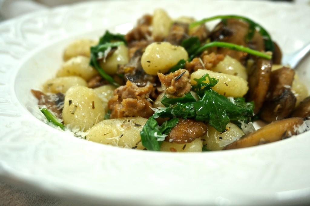 Brown Butter Mushroom Gnocchi