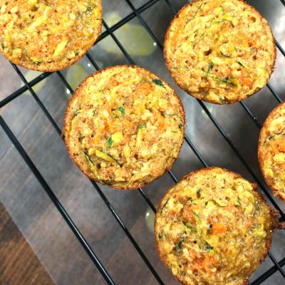 Zucchini Muffins with a Zesty Lemon Glaze