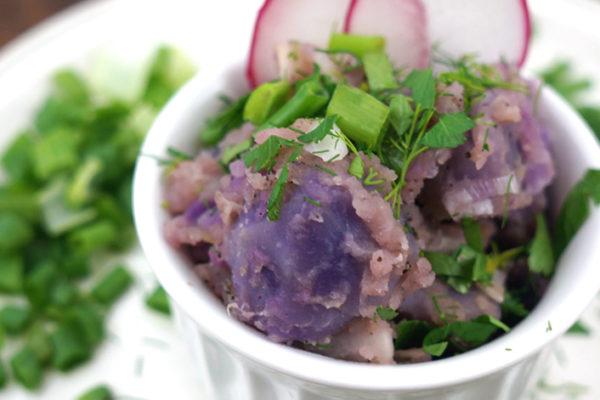 Purple Potato Salad with Fresh Herbs