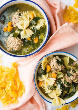 Pressure Cooker Italian Wedding Soup