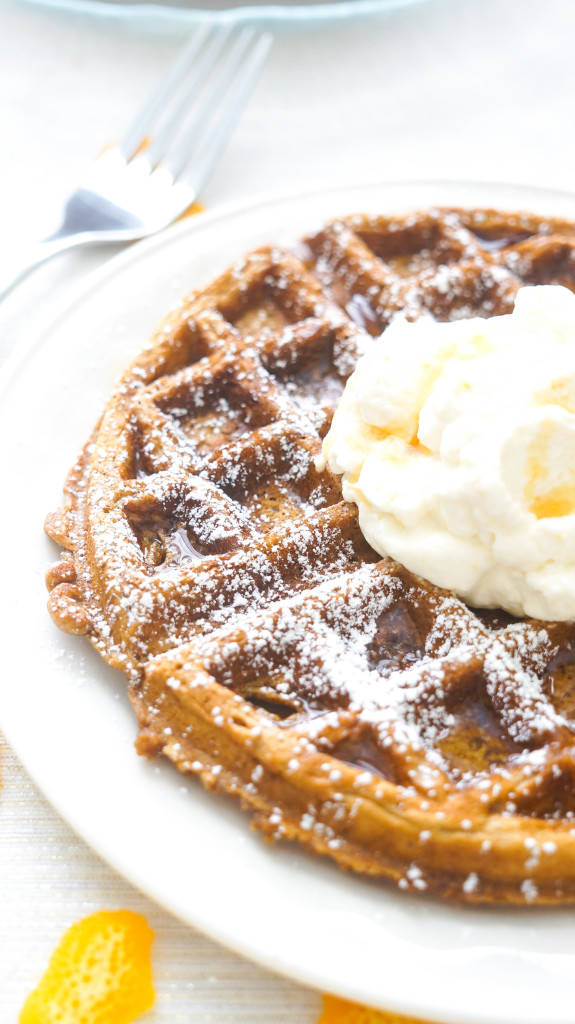 Gingerbread Waffles with Orange Whipped Cream-5