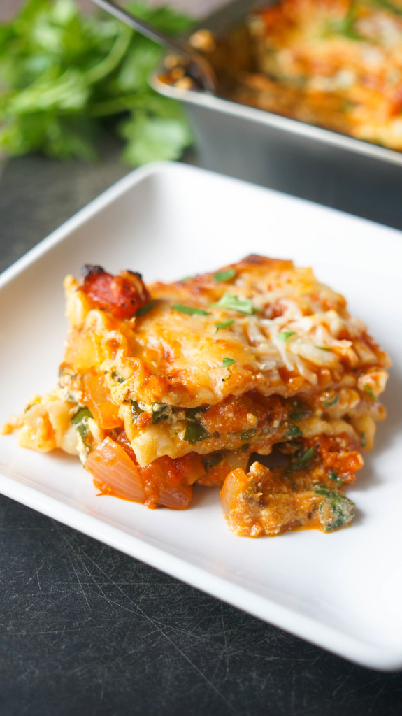 Pair this lasagna with a beautiful side caesar salad and some crusty ...