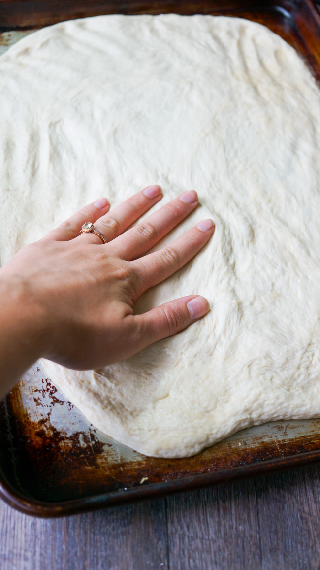 Homemade Pizza Dough. Ready to bake in 20 minutes or less!