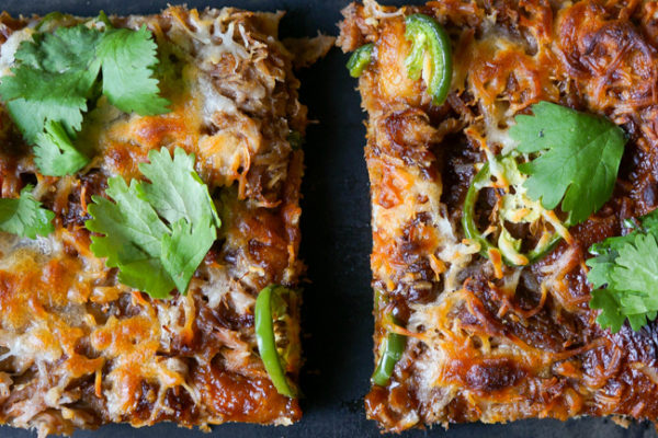 Spicy Hoisin Pork Pizza - Kitschen Cat