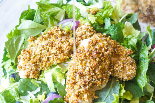 Pistachio Crusted Chicken Salad