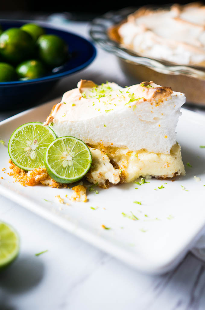 Key Lime Pie with Fluffy Meringue. A tart and creamy key lime filling ...