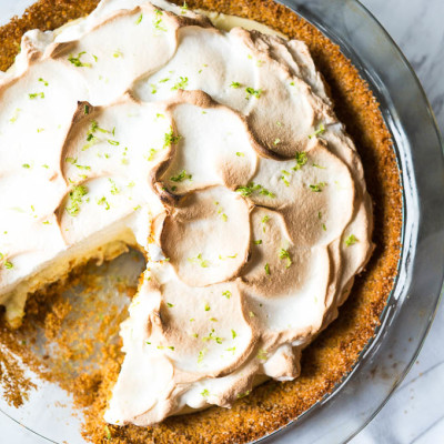 Key Lime Pie with Fluffy Meringue