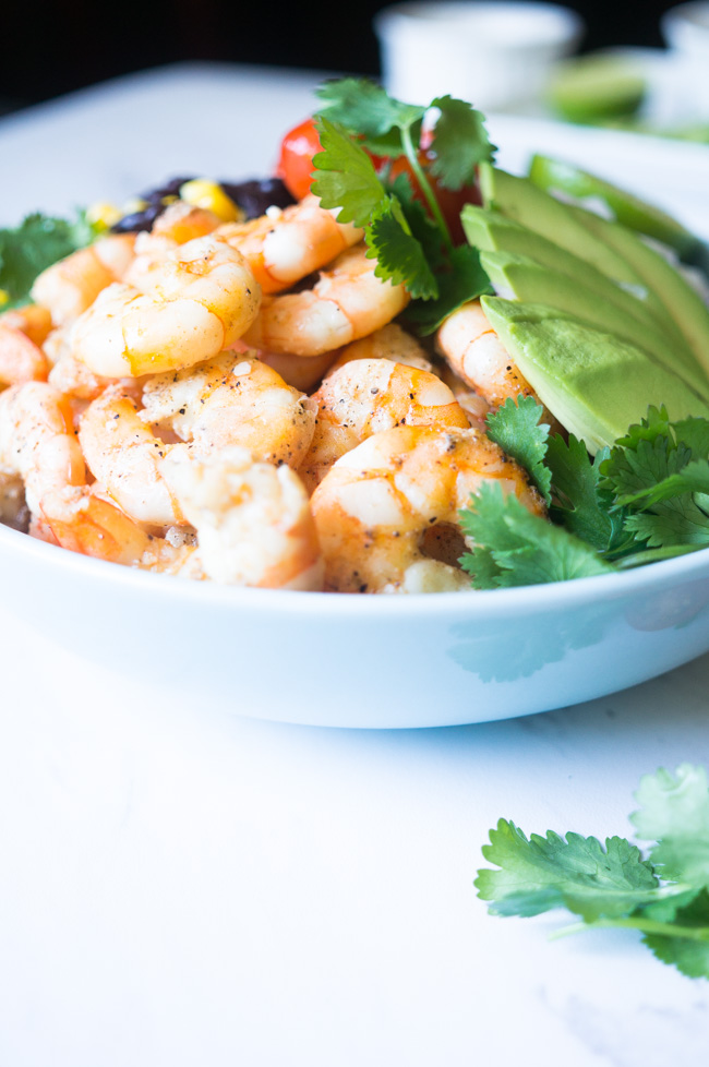 Garlic Lime Shrimp & Quinoa Salad. A zesty, nutrient dense salad that ...