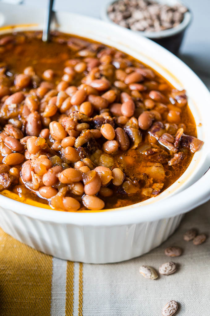 Pressure Cooker Coca Cola Baked Beans. Made in a big batch with dried beans, these beans are sweet, tangy, savory, and hearty!