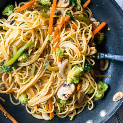 15 Minute Vegetable Lo Mein