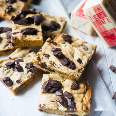 Brown Butter Chocolate Chunk Cookie Bars