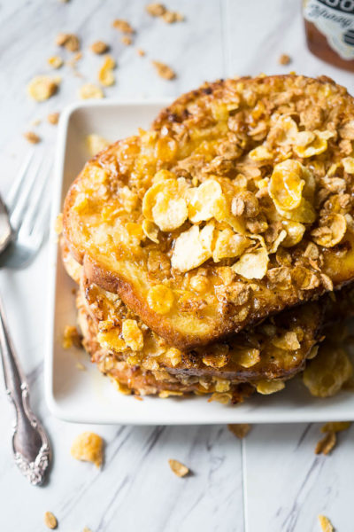 Crunchy Cereal Crusted French Toast