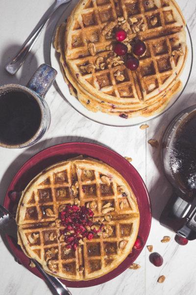 Cranberry Buttermilk Waffles