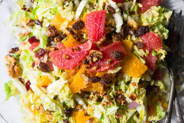 Citrus Salad with Dried Cranberries and Toasted Walnuts