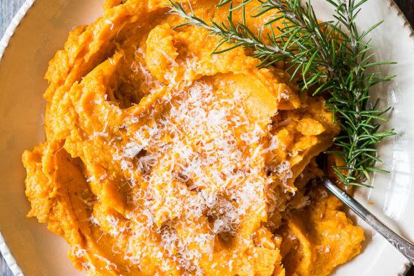 Pressure Cooker Savory Mashed Sweet Potatoes