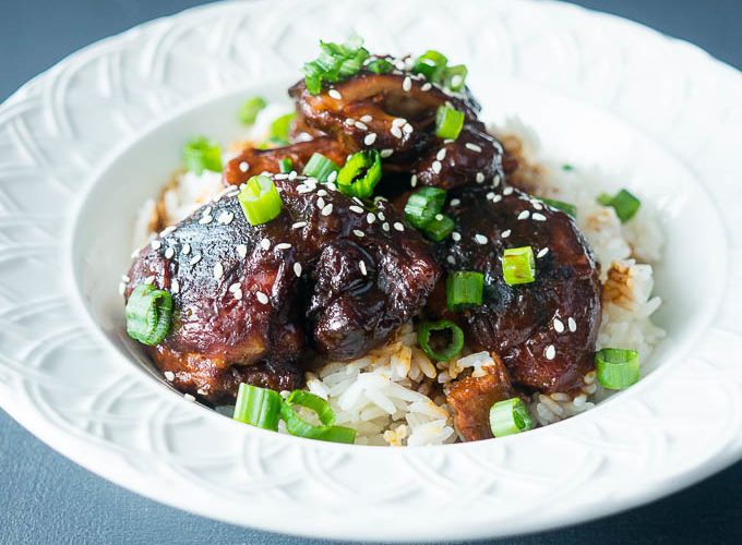 Honey Garlic Sticky Chicken