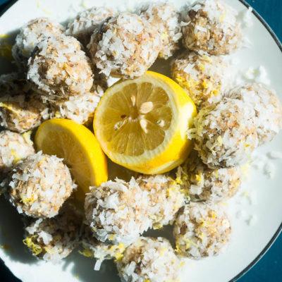 Lemon Coconut Snack Bites