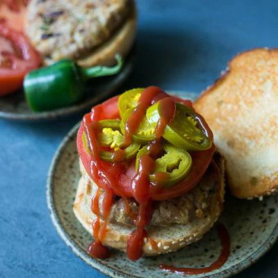 Cheddar + Apple + Jalapeño Turkey Burgers