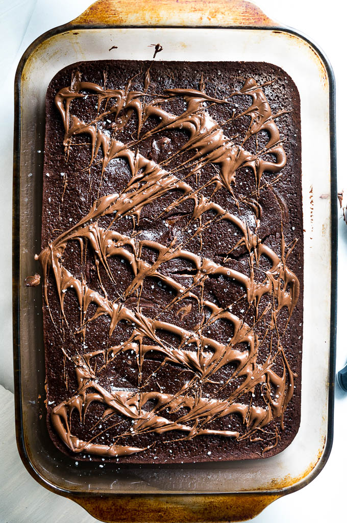 5 Ingredient Mocha Nutella Brownies. Using only a boxed brownie mix along with 4 common pantry ingredients, these rich and fudgey brownies are everything dreams are made of!