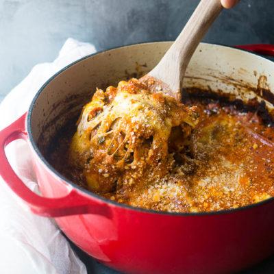 One Pot Lasagna Bake