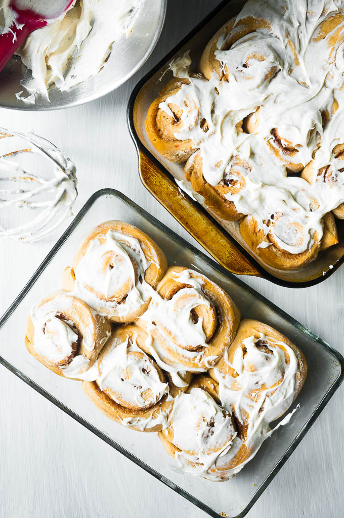 Carrot Cake Mix Cinnamon Rolls. I've been making these soft and fluffy cinnamon rolls for so long and they turn out perfect every time! Only 7 ingredients and a breeze to make!