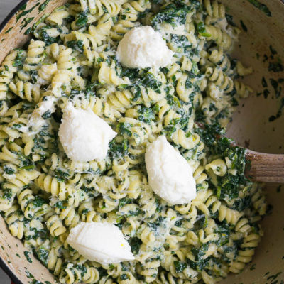 Fusilli with Ricotta and Spinach