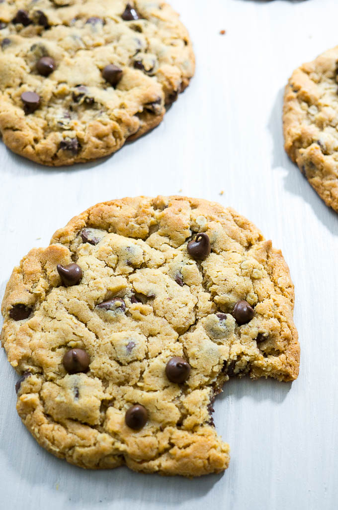 Jumbo Peanut Butter Oatmeal Chocolate Chip Cookies don't need any explanation. They're soft in the center, crispy in all the right places, and are so amazingly yummy!!