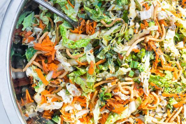 Crunchy Napa Cabbage Asian Slaw