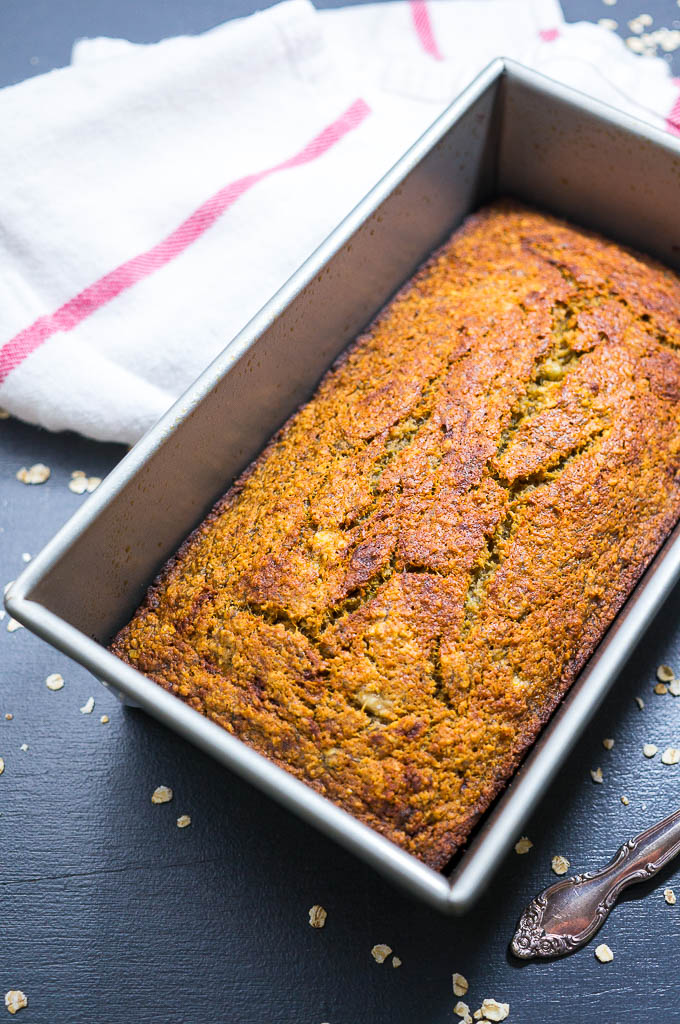 Dairy Free, Gluten Free Coconut Oil Banana Bread. So nutty, naturally sweet, and moist that you'll wonder why you ever made any other recipe!
