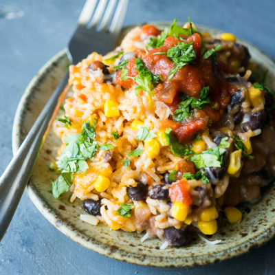 Pressure Cooker Spanish Rice Bake