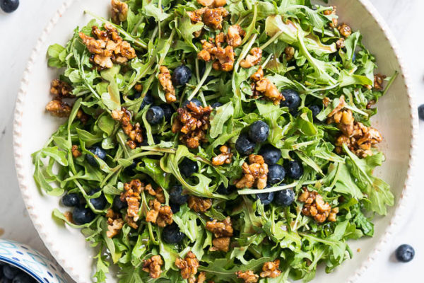 Blueberry, Arugula, and Toasted Walnut Salad