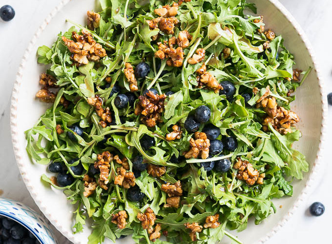 Blueberry, Arugula, and Toasted Walnut Salad