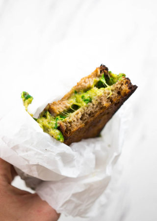 Mean Green Grilled Cheese Sandwich