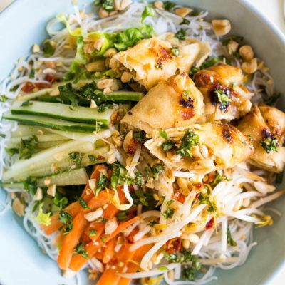 Vietnamese Egg Roll Noodle Salad