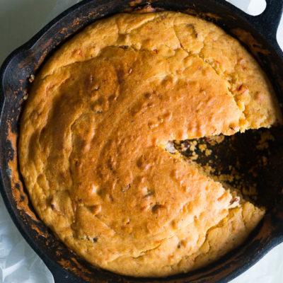 Bacon Pimiento Cheese Skillet Bread