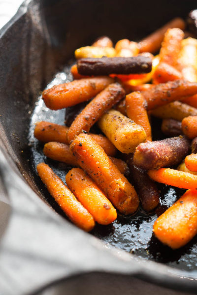 Oven Roasted Curried Cardamom Carrots