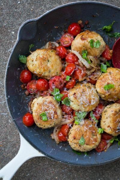 Pressure Cooker Jumbo Chicken Basil Meatballs