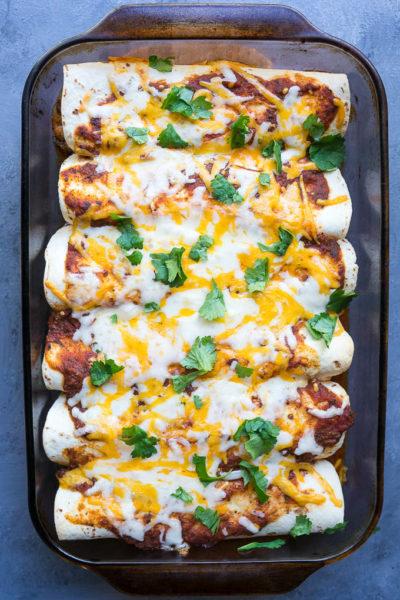 Harvest Veggie and Cheese Enchiladas