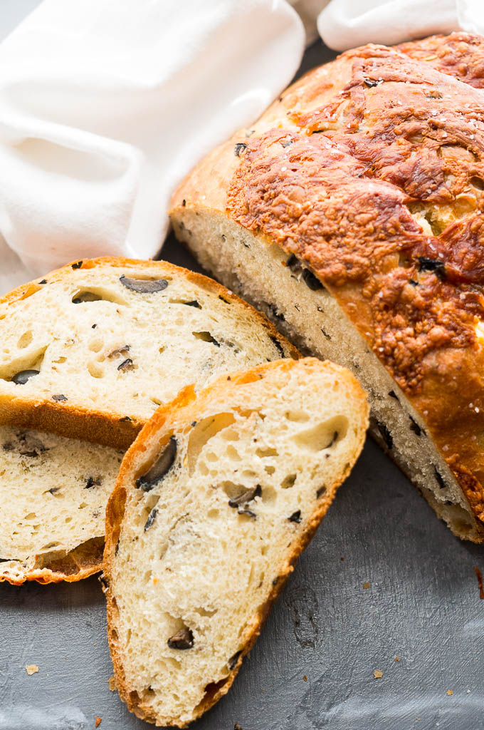 Life Changing Olive Bread is rocking my world right now. It's incredibly easy, super savory and delicious, and a definite crowd pleaser!