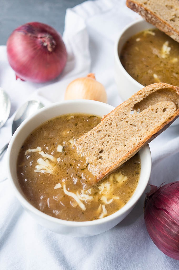 Coming to you straight from the instant pot, this pressure cooker french onion soup is bistro worthy, but a breeze to make in your home kitchen!