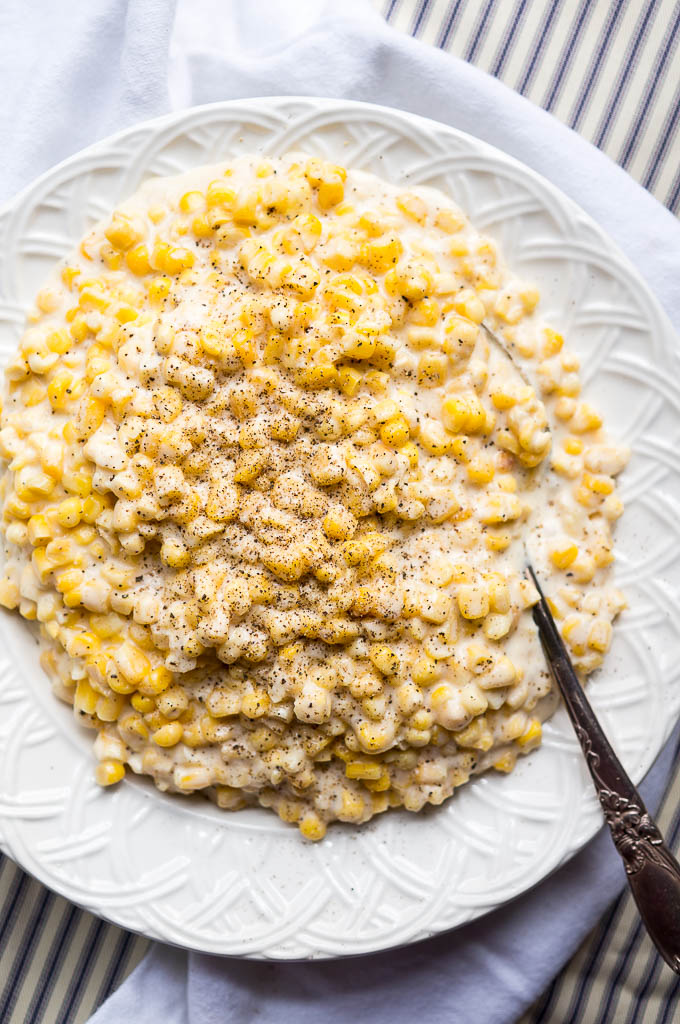 Pressure Cooker Creamed Corn is a staple at your holiday dinners - don't worry about using precious stovetop space either!