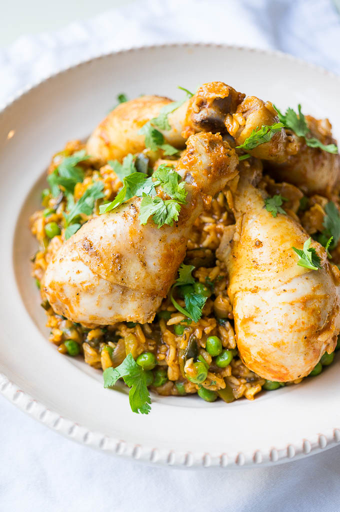 Pressure Cooker Cuban Chicken and Rice - Kitschen Cat