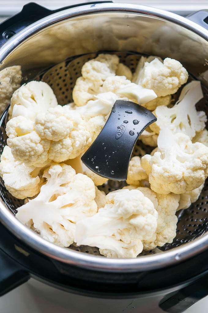 Ultra silky, won't even realize they're not potatoes Pressure Cooker Parmesan Cauliflower Mash