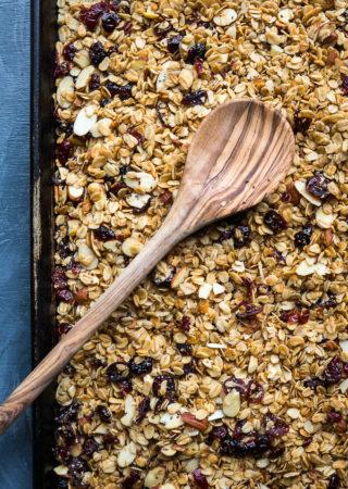 Slow Cooker Cranberry Almond Granola