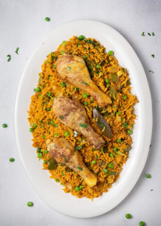Pressure Cooker Cuban Chicken and Rice
