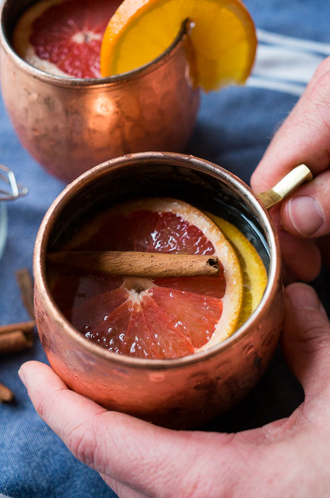 Let's welcome the new year with some festive Apple Cider Mules - non-alcoholic option as well!