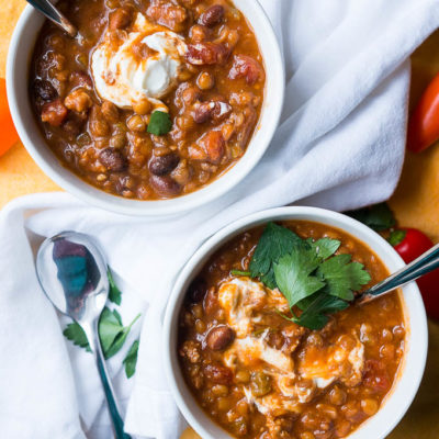 Pressure Cooker Sausage and Lentil Chili