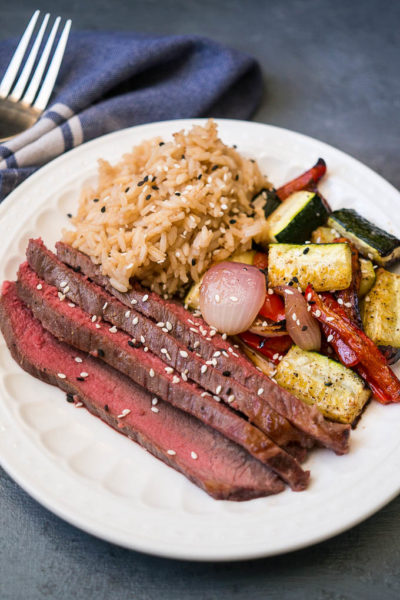 Sheet Pan Sesame Soy Steak and Veggies